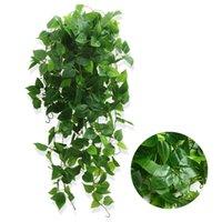 فو الخضرة الاصطناعي شنقا النباتات وهمية scindapsus اللبلاب كرمة يترك جدار غرفة البيت فناء داخلي ديكور في الهواء الطلق 1 متر / 39in kdjk2107