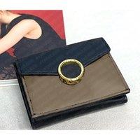 Top Quality Mulheres Envelope Envelope Cartões De Crédito Clássico Carteira Marrom Letras Pretas Embargon Imprimir Moeda Bolsa Mony Clipe Genuine Bag Wallets