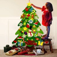 DIY Felt Christmas Tree New Year'S Door Wall Hanging Ornaments Artificial Tree Kids Toys Christmas Decoration For Home Party LD62309