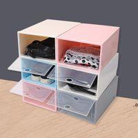 Faltbare Schuhkarton Transparente Kunststoffschuhe Rack Lagerung Bins Schubladen Kombination Flip Cover Room Organizer Hanger Seaway FWF9075