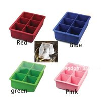 Silicone Mold 1 PC Novelty 6-Square Soft Ice Cube Tray Maker Jelly Pudding Mould Kitchen Bar Accessories Baking Moulds