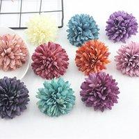 Fleurs décoratives Couronnes 5pcs 6cm Ball artificiel CHRYSANTHEMUM DARELLIM DÉCOPOR DÉCOPORATION MAISON SALON COMMENTAIRES