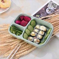 3 شبكة القمح القمح الغداء مربع الميكروويف بينتو صندوق الغذاء الصف الصحة الغداء مربع طالب المحمولة حاوية تخزين الغذاء الفاكهة ZHL5662