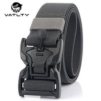 Belts 95cm To 125cm Men's Military Tactical Belt Full Metal Magnetic Buckle Strong Nylon Outdoor Work Stretch Hunting Accessories
