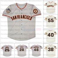 레트로 샌프란시스코 2002 2010 및 2012 유니폼 55 Tim Lincecum 25 Barry Bonds 40 매디슨 Bumgarner 28 버스터 포세이