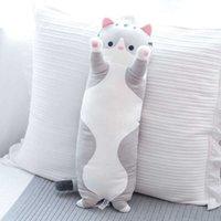 Modern Pie Pair Gift 50 Cm Plush Toy Strip Cuddly Cat Shaped Plush Doll Soft Sleeping Pillow Wholesale