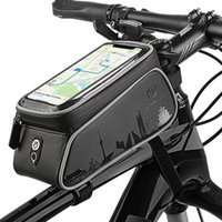 Cycling Bags Waterproof Reflective Stripes Frame Front Bag Bicycles Phone Holders Storage Fit For Sunglasses Cellphone