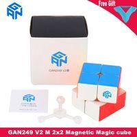 Gan249 v2 m 2x2x2 المغناطيسي ماجيك مكعب gan 249 v2m 2x2 سرعة مكعب 2x2x2 لغز مكعب المهنية كوبو ماجيكو ألعاب تعليمية