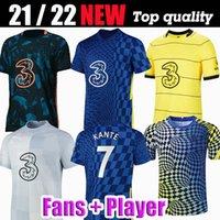 مشجعي المشجعين CFC Soccer Jerseys Lukaku Ziyech Pulisic Mount Kante Havertz Werner Abraham Chilwell Giroud Hudson-Odoi 2021 2022 كرة القدم قميص 21 22 رجال زي