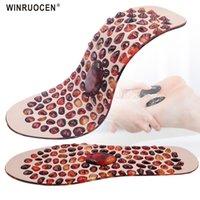 Ayakkabı Parçaları Aksesuarları Winruocen Cobblestone Masaj Tabanlık Kauçuk Terapi Acupressure Ayak Pedi Ağırlığı Kaybetmek Ayakları Astar