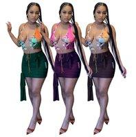 Sommer Womens Kleider Sexy Skinny Bind Zwei Stück Kleid Bodycon Abend Luxus Pullover Hohe Qualität Kubwear D549