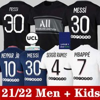 Messi Fransız Kulübü Tam Setleri 21 22 Futbol Formaları Mbappe Verratti Kean 2021 di Maria Kimpembe Yetişkin Çocuk Kitleri Çorap Futbol Gömlek Jersey Top