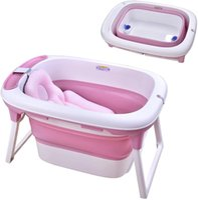 "30.3 ""L X 22"" W PP TPE Baño Plegable Freestanding Bathtubs Tina portátil Bañera de baño Cuenca con cojín Baby Bath-Tub Piscina ACCE"