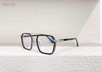 أسود فضة النظارات التيتانيوم إطار واضح عدسة 54 ملليمتر الرجال إطارات البصرية نظارات نظارات للجنسين نظارات شمسية مع صناديق
