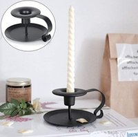 Stand Candle Holder Vintage Retro Style Classic Look Taper Candlestick Holder Iron European Style Candlestick DH4911