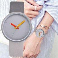 Luxus-Herren- und Damenuhren Designer-Marke-Uhren, die unsere Femmes et Hommes, Montre-Bracelet Contrast Gris, Amoureux Unisexe dcontract