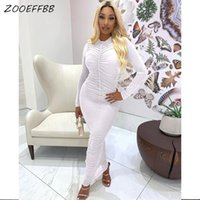 Casual Dresses ZOOEFFBB Long Sleeve Cute Maxi Fall Clothes For Women 2021 Fashion Sexy Aesthetic Corset Dress Bodycon Birthday Outfits