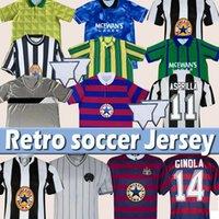 Retro Newcastl e Futbol Formaları 1984 1986 1988 1994 1995 96 97 98 99 2005 06 07 Magpies Batty Asprilla Shearer Bellamy Birleşik Jersey Klasik Vintage Futbol Gömlek Üst