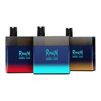 원래 3000Puffs Randm Dazzle King 일회용 전자 담배 vape 전자 담배 8.0ml 포드 빛 어두운 LGB 빛 12 색 VS 퍼프 바