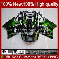 Тело для Kawasaki Ninja ZX-11 R Зеленое пламя ZZR-1100 ZX-11R ZX11R 90 91 92 93 94 95 30HC.11 ZZR 1100 CC ZX 11 R 11R ZX11 R ZZR1100 1996 1997 1998 1999 2000 2001