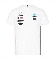 2021 Custom F1 Voiture Logo Ronde Col T-shirt à manches courtes Co-marquée Suit de course d'été Formule 1 Ventilateurs Outillage PLUS Taille Racing Vêtements de travail