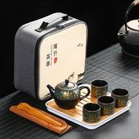Seyahat Taşınabilir Araba Kendini Sürüş Seyahat Çay Seti Mor Kil Pot Çay Kupası Pot Alan Yapımı Kungfu Set