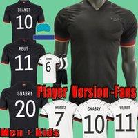 2021 نسخة لاعب ألمانيا Allemagne Soccer Jerseys المشجعين Kimmich Kroos Gnabry Football Shirt Sane Jersey Muller Havertz Wermer Camisa Alemania Men + Kids Kits Socks