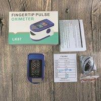 Fingertip Pulse Oximeter LK87 Portable Digital LED Screen CE FDA Sleep Oxygen Saturation Health Appliances Prbpm Monitor Finger Clip Blood H