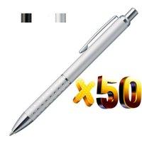 Penne a sfera Lotto 50pcs Penna a sfera in metallo, Punto di alluminio Gasps, Free Laser Incisa Company LogotExt, regalo per eventi promozionale personalizzato