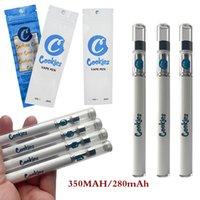 Kurabiye Tek Kullanımlık Vape Kalem Kartuşları Elektronik Sigaralar 360 mAh Vapes Akü Başlangıç Kitleri 0.5 ml Boş E-Sigaralar Ambalaj Çanta ile 1.8mm Yağ Delik Atomizörler