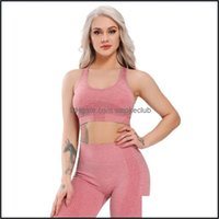 Yoga Exercise Wear Athletic Outdoor Apparel & Outdoorsyoga Outfits Fitness Womens T-Shirts Seamless Workout Sports Bra Vest Backless Sportsw