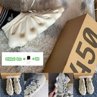 [Caixa original + meias + tag] Justin Bieber Kanye Same style Men's Women's Adidas Yeezy 450 Cloud White Black Samurai Dark Slate Knitted Socks Upper Casual Sports Running Shoes