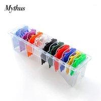 Mythus Senior Magic Hair Clipper Limite de Corte de Corte Guia de Corte Combs Anexo 10 Peças Magnéticas Colorido Barber Guardas1