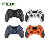Choque 4 controlador de mão Bluetooth sem fio para controladores de jogos PS4 Vibration Joystick Gamepad com caixa de varejo DHL