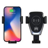 Chargeur de voiture sans fil Mount Air Vent 10W Porte-téléphones pour la fonction de chargement QI Adaptateur mobile avec boîte de vente au détail