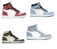 مع صندوق 2021 أحذية رجالي كرة السلة أحذية رياضية 1 ثانية موتشا جامعة بلو مفرق الملكي للرجال والنساء الأحذية الرياضية حجم US5.5-12