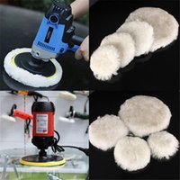 2Pcs 75 100 125 150 180mm Wool Pads Waxing Polishing Buffing Pad Wheel Car Auto Paint Care Polisher 3 4 5 6 7 Inch Sponge