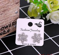 2021 4x4cm White Color Paper Different Design Colorful Earrings Ear Stud Card Jewelry Display Hang Tag Label Printing