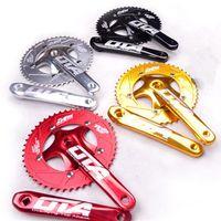 Bike Freewheels & Chainwheels Crankset Bicycle Chainring Single Speed Chainwheel 48T Crank Parts Fixed Gear BCD130mm 170mm Aluminum Alloy