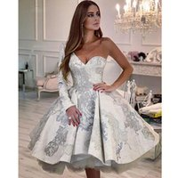 New Chic Prom Dresses one shoulder long sleeves Formal Evening Party Gowns short Cocktail Dress