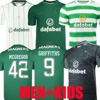 Version des fans Version 21 22 Jerseys de football celtique Accueil McGregor Griffiths 2021 2022 Forrest Christie Edouard Elyounoussi Troisième hommes Kids Kits de football