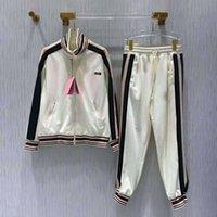 Kadın Eşofman Terry Hoodie ile Pantolon Setleri Ile Baskılı Lady Track Takım Elbise Moda Yüksek Kaliteli Ceket Iki Parçalı Set Boyutu S-L