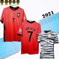 2021 Sul de Futebol Filho SUL SUL 21 Coréia Away Black Hyung Kim Lee Kim Ho Son Jersey Custom Men Kids Treinando Camisas de futebol