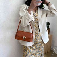 Crocodile Pattern Shoulder Women 2021 Solid Pu Leather Female Saddle Bag Finger Arm Bag Luxury Handbags Sack