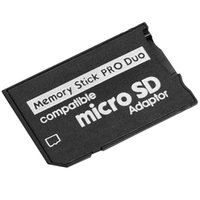 Micro SD naar Memory Stick Pro Duo Adapter Compatibel MicroSD TF Converter Micro SDHC naar MS Pro Duo Memory Stick Reader voor Sony PSP 1000 2000