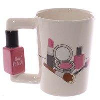 Trinkwaren Kreative Keramik Mädchen Werkzeuge Schönheit Kit Specials Nagellack Griff Tee Kaffeetasse Tasse Personalisierte Becher für Frauen Geschenk