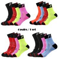 4 pairs compression socks women soccer men cycling socks basketball woman running socks