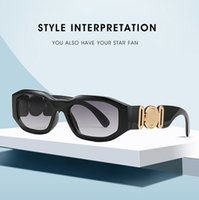 새로운 성격 인간의 머리 패턴 남성과 여성을위한 불규칙한 작은 프레임 선글라스 패션 안경 선글라스 트렌드 안경 맨 안녕하세요 occhiali da sole