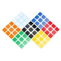 Hotsell 4 قطع z ملصق diy pvc يمكن استخدامها على qiyi xmd valk3 السلطة valk 3 m 3x3x3 المغناطيسي magic مكعب لغز ألعاب تعليمية