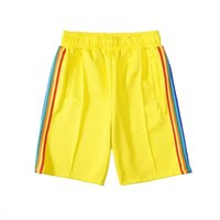 2020 Casual Beach Shorts mens womens designer short pants clothes letter printing rainbow strip webbing casual five-point